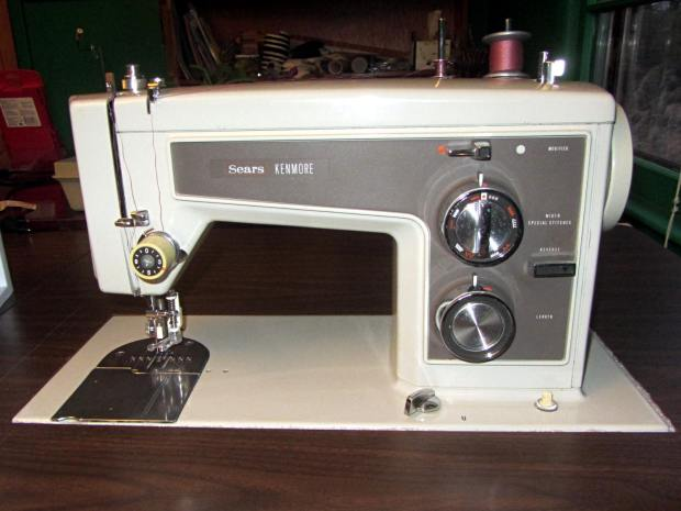 Sewing Machine Supports - machine installed