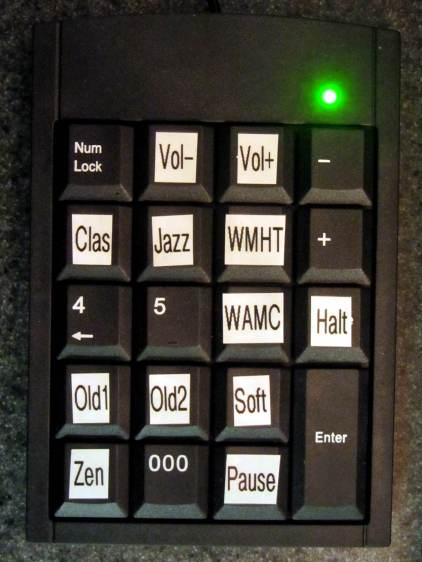 Numeric Keypad - stream labels