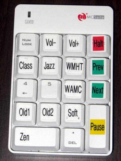 Wireless Keypad - colored labels
