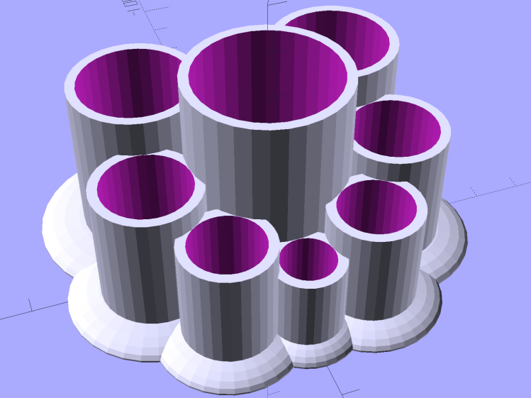 Improved Lipstick and Balm Holder - 8 tubes