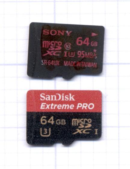 Sony 64 GB MicroSD SR-64UX - failure
