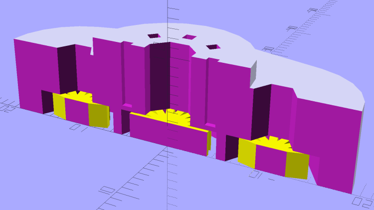 Vacuum Tube Base - Mini7 - solid model section