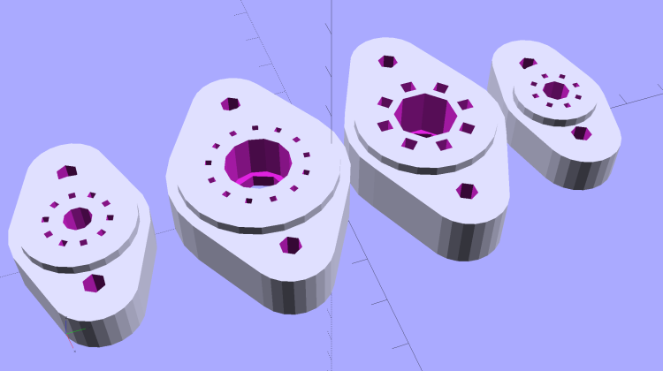Vacuum Tube Bases - solid models