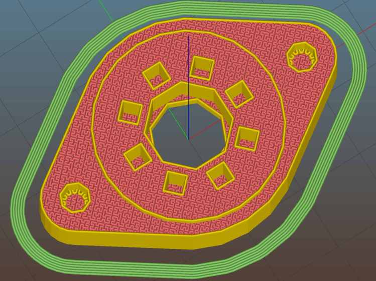 Vacuum Tube Lights - octal socket - Slic3r preview