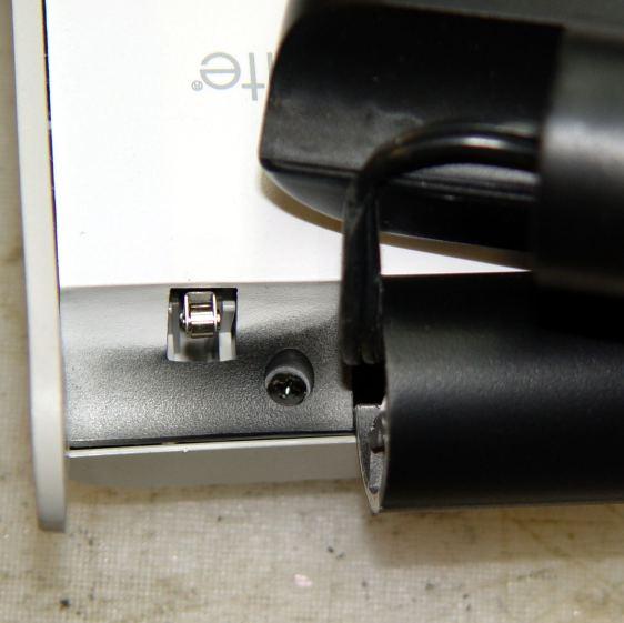 OttLite LED Conversion - hinge screw