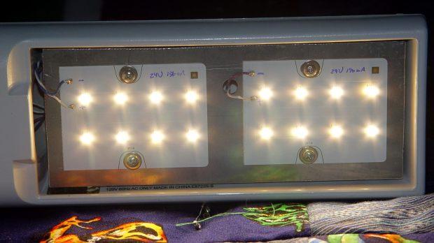 OttLite LED Conversion - LED panel layout