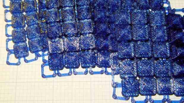 Square Chain Mail Armor - 3.3 3.5 4.0 thread bars