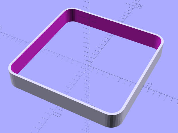 Calibration Box - open - 1 thread - solid model