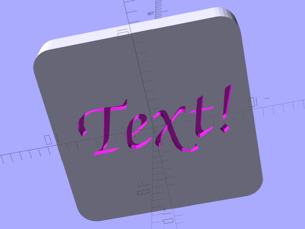 Calibration Box - solid text - solid model