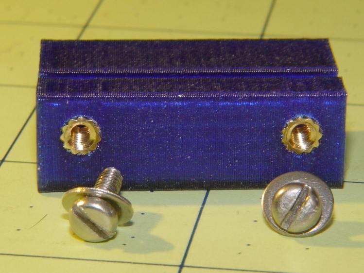 Refrigerator Drawer Strut Tab - knurled inserts