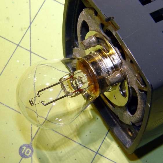 Microscope Illuminator - 1460X bulb - detail