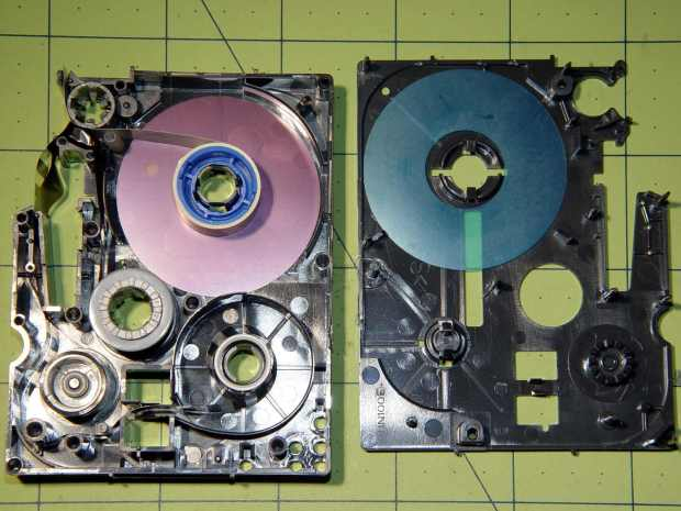 Brother P-Touch TZ tape cartridge - disassembled