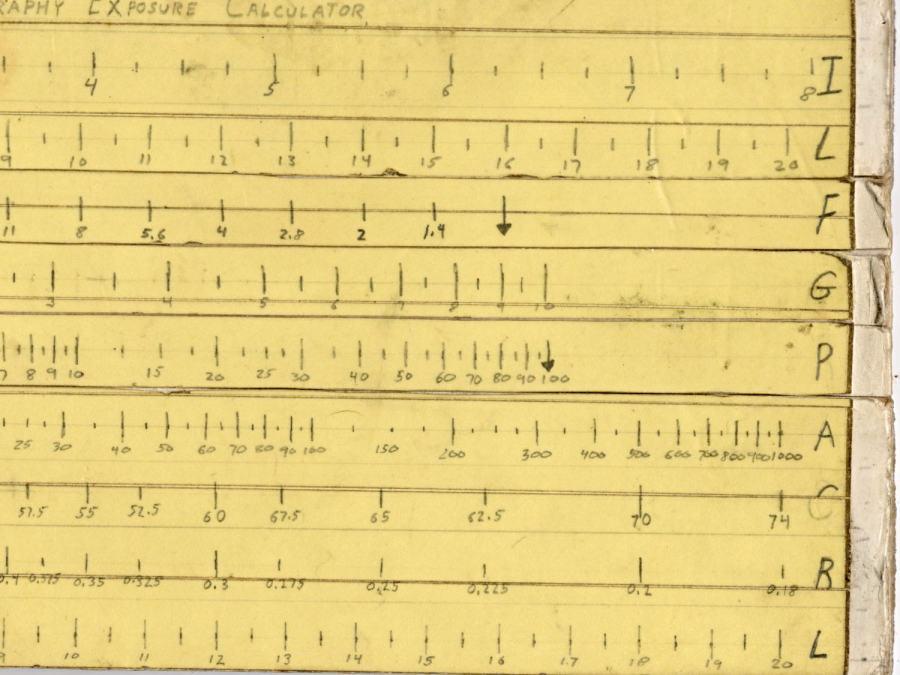 Macrophotography Exposure Calculator - front - detail