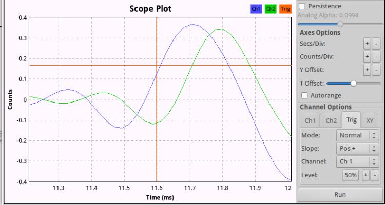 CM-1000USB mic - Left pulse