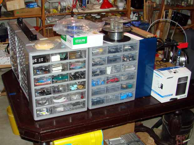 New parts cabinets