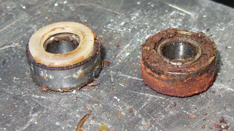 Defunct blender bearings
