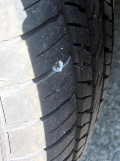 Forester - left rear tire with screw