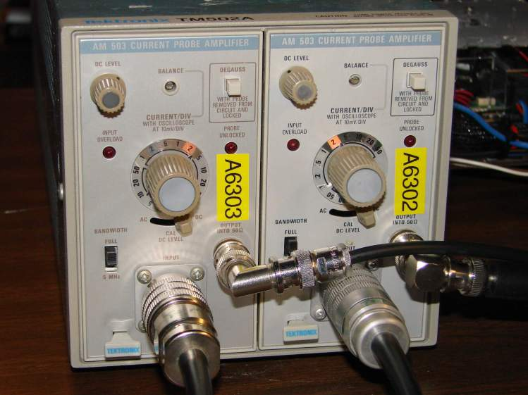 Tektronix TM502 Mainframe with AM503 Current Probe Amps