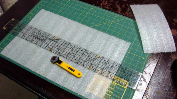 Rotary cutting foam sheets
