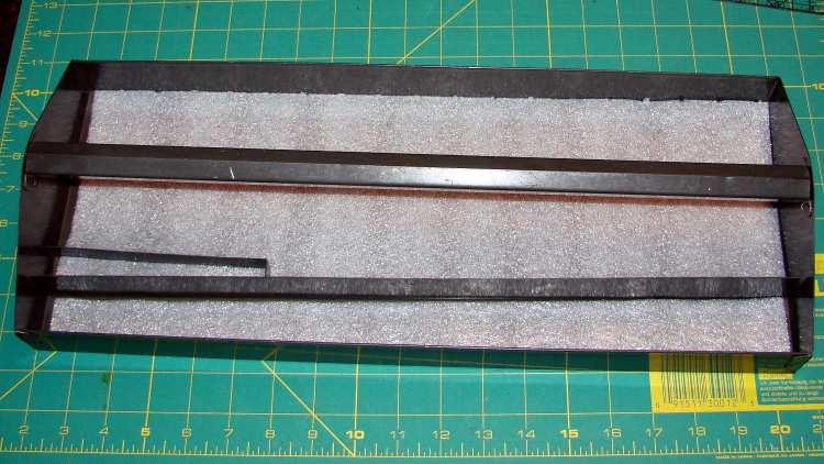 Foam-lined tool tray