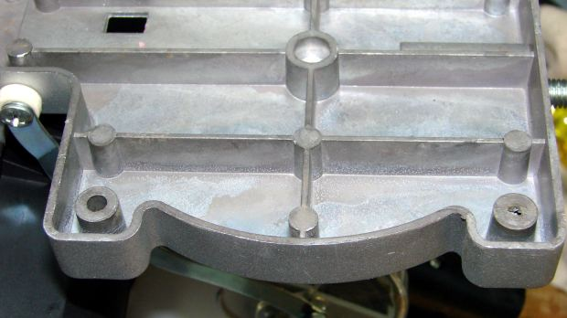 Micro-Mark Cutoff Saw - unfinished casting hole