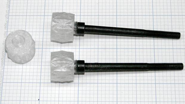 LMS Mini-lathe cover screw knobs - epoxied