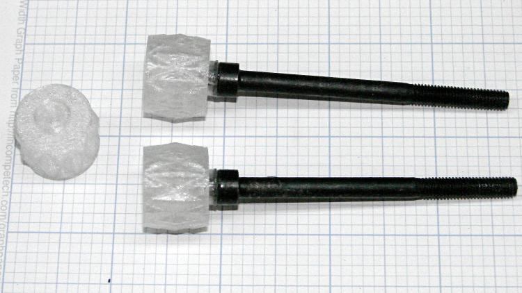 LMS Mini-lathe cover screw knobs - epoxied