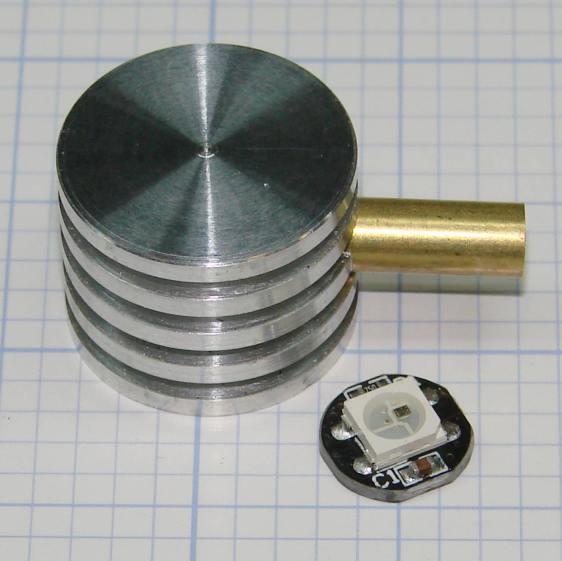 Ersatz aluminum heatsink - tubing trial fit