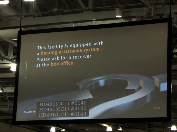 RIT Commencement - video status display