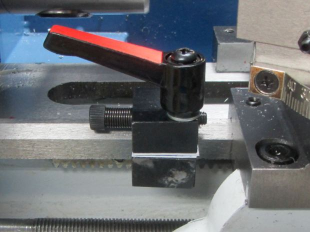 LMS Mini-lathe - carriage stop - crude shim