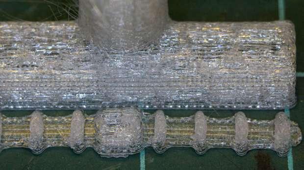 Dishwasher Rack Protectors - 0.25 mm PETG bridging - detail