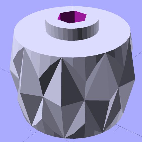 LMS Mini-lathe cover screw knob - solid model