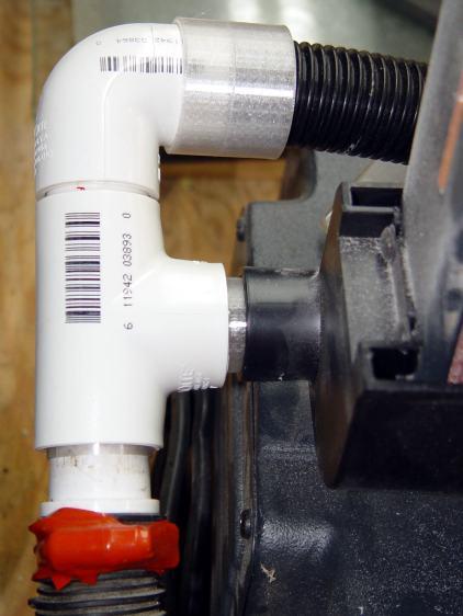 Vacuum Adapters - belt sander - tee