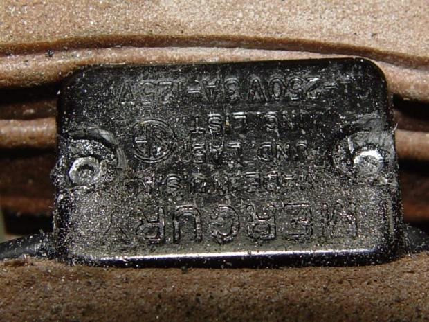 Model 158 Power Switch - grinding rivets