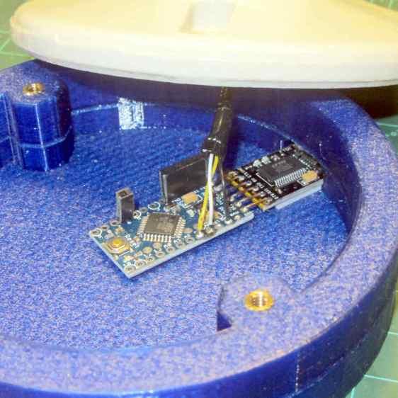 Halogen bulb brass cap - Arduino Pro Mini
