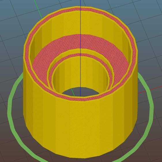 LMS Mini-lathe cover shaft shield - Slic3r preview