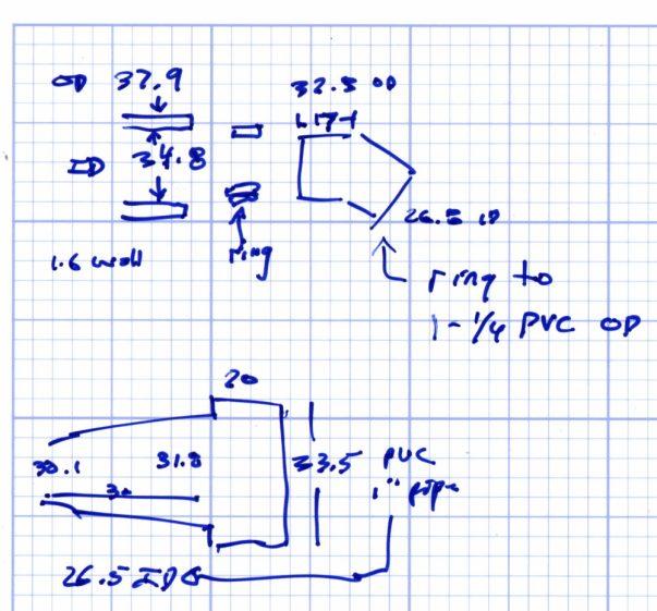 Vacuum Fitting Doodles - port - male port - 45 deg 3-4 elbow