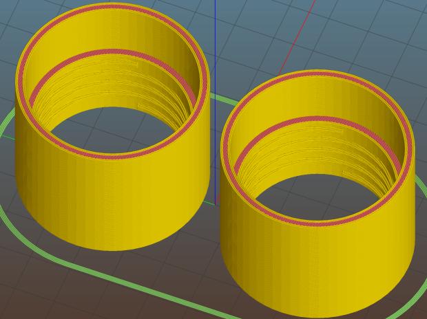 Vacuum Hose Fittings - hose to 1 inch PVC fitting - Slic3r pair