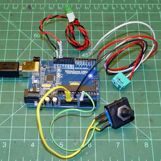 Arduino UNO clone - test setup