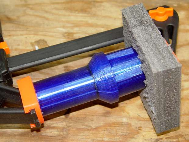 Dust Brush Adapter - clamping