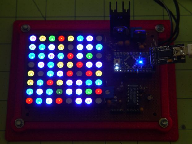 8x8 RGB LED Matrix - board overview