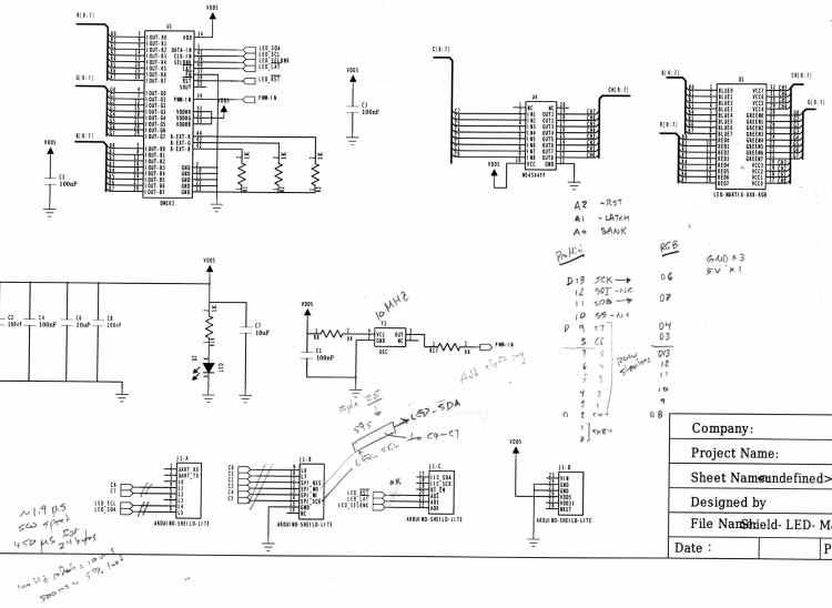 ITeadStudio - RGB LED shield - DM163 M54564 - SPI notes