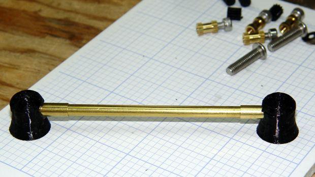 Black PETG Plate Caps - brass tube alignment