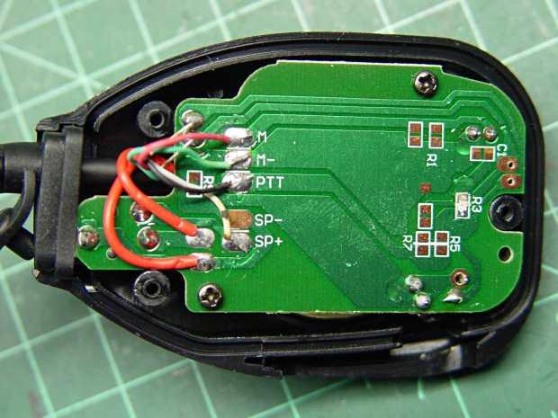 Baofeng speaker-mic wiring