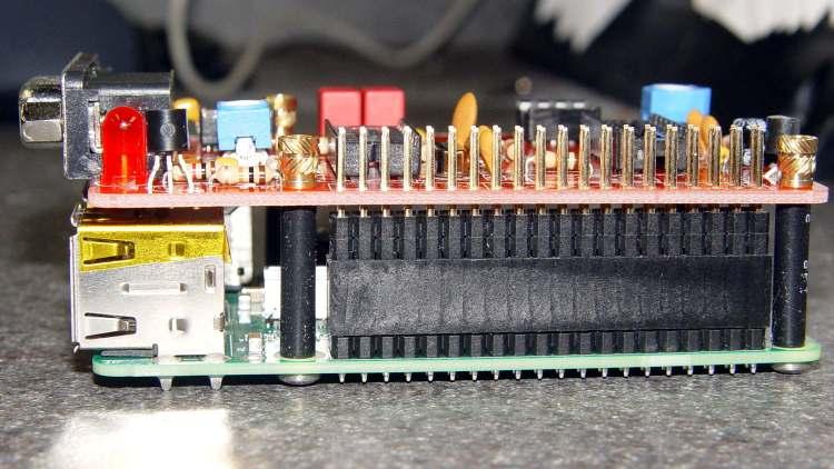 RPi TNC-Pi2 stack - heatshrink spacers