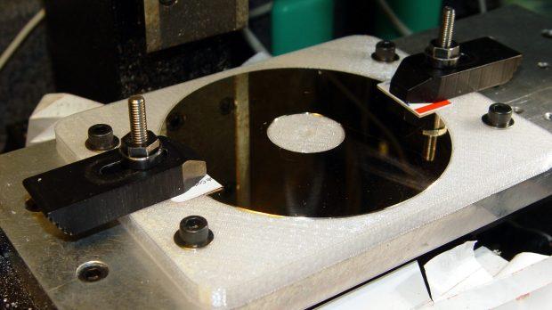 Hard drive platter - drilling fixture