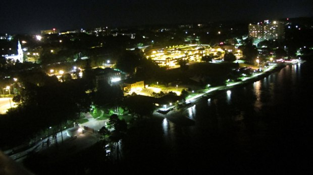 City of Poughkeepsie Waterfront - night view