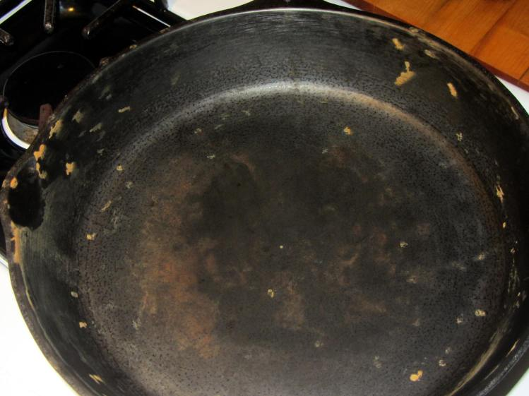 Wagner cast iron skillet - washed - top