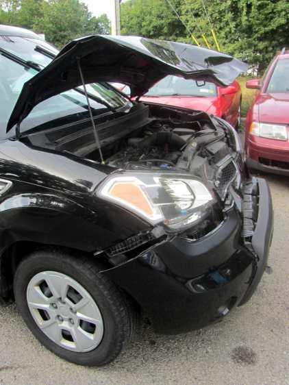 Deer-smashed car