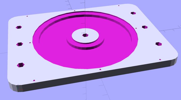 Vacuum Tube Lights - hard drive fixture - solid model